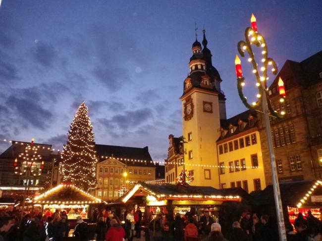 Weihnachtliche Lichterführung